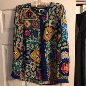 Trina Turk silk long sleeve blouse